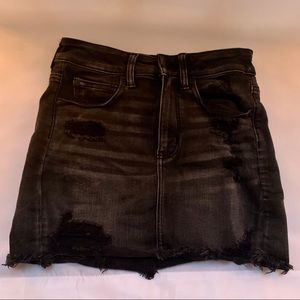 distressed american eagle mini skirt